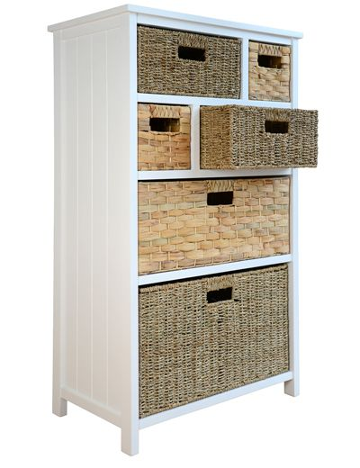 Cabinet with 6 storage baskets